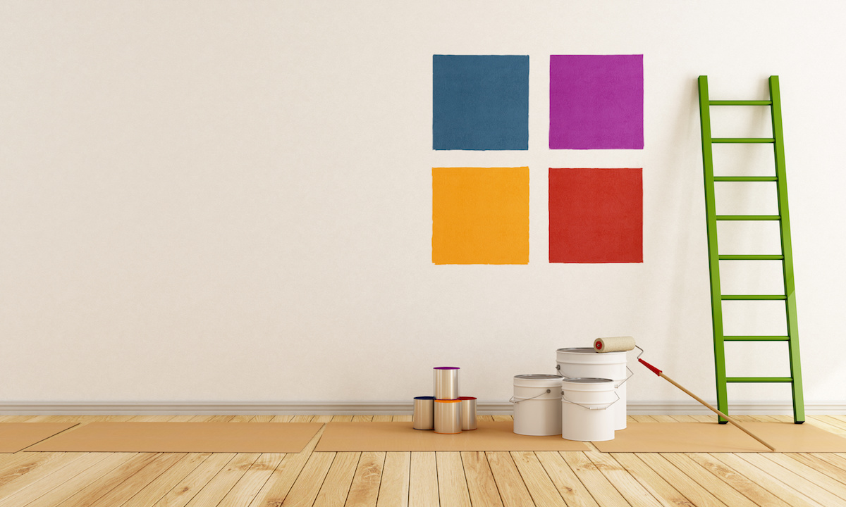 select color swatch to paint wall